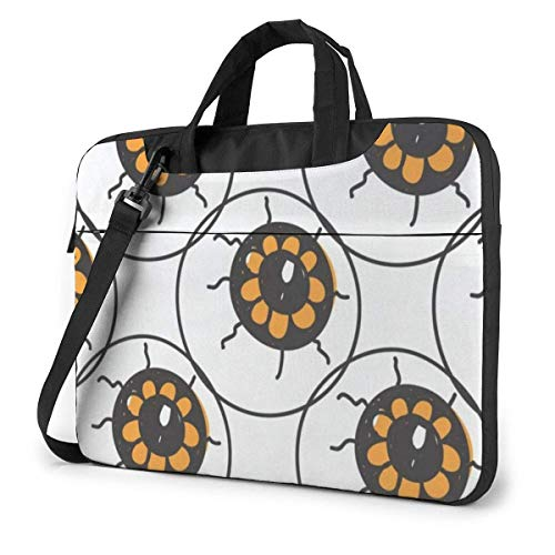 zhengdong Vintage Happy Halloween Eyes Eyeballs Laptop Case 14 Inch Computer Carrying Protective Case with Strap Bag