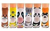 Fascigirl Karikatur Tier Socken Lustige Bunte Sneaker Knchel Socken 6 Paar Pack