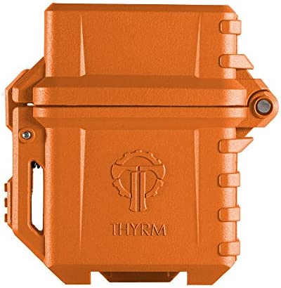 Thyrm PyroVault Lighter Armor, Compatible with Zippo Classic Fluid Inserts (Black)