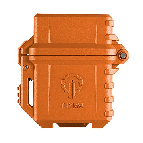 Thyrm PyroVault Lighter Armor, Compatible with Classic Zippo Inserts (Rescue Orange)