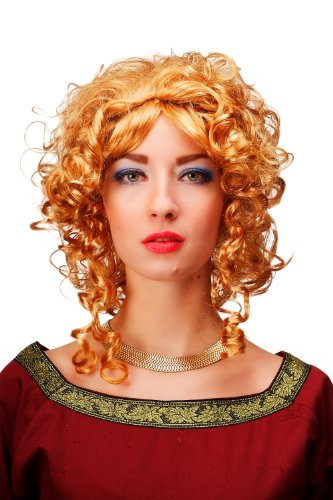 Perruque de princesse avec diadème, blonde, reine médiévale, baroque Gothic Lolita, idéal pour Carnaval 66102-P27