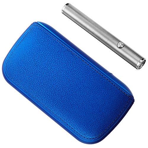 BESPORTBLE wasserdichte Zigarettenetui mit Wiederaufladbarem Flammenlosem Winddichtem USB-Feuerzeug für Campingwanderungen im Freien (Blau)