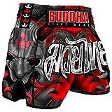 Muay Thai Kick Boxing Buddha Retro Demon, M