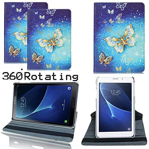 Roba de Cellulare Huawei MediaPad T3 10 Custodia Cover, Custodia in Pelle PU di Lusso a 360 Gradi con Funzione di Supporto per Huawei Mediapad T3 10 (Butterfly Gold)