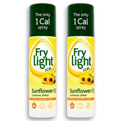 Frylight Sunflower Oil Cooking Spray 2x 190ml (380ml) - 1 Cal. per Spray!