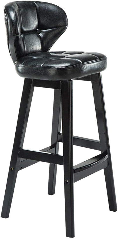 Solid Wood bar Stool European Retro Home Back bar bar Stool Front Reception Coffee Wood bar Chair Simple Modern FENPING (color   Green)