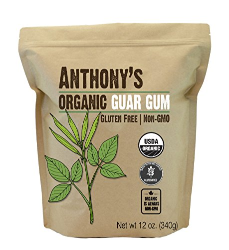 Anthony's Organic Guar Gum Powder, 12 oz, Gluten Free, Non GMO, Keto Friendly