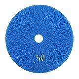 FTVOGUE 5 '' pulgadas 125 mm Discos de esmerilado Húmedos de pulido de diamante Lijado lija Ruedas para mármol de granito de hormigón(50)
