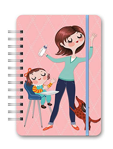 """Do It All Weekly Spiral Planner 2021 in Mom Do It All by Orange Circle Studio - 6"""" x 8"""" 17-Month Flex Cover - Week-Per-Spread View with Tear-Off To-Do Lists - Organize Tasks & More"""