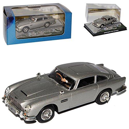 Atlas Aston Martin DB5 James Bond Goldfinger mit Sockel und Vitrine 1/43 Modell Auto