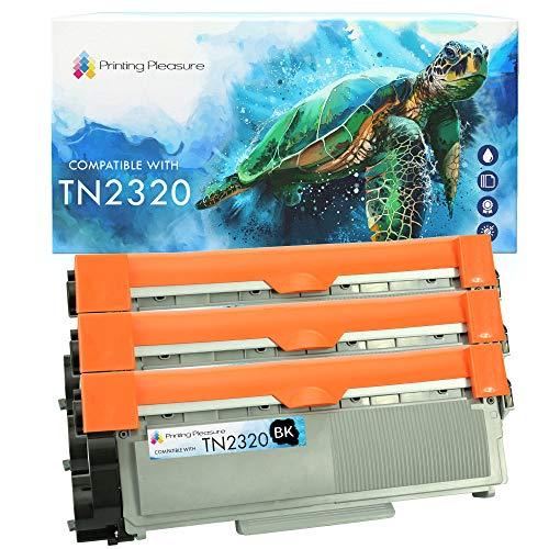 Printing Pleasure TN2320 3 Cartucce di Toner compatibile per TN-2320 Brother HL-L2300D HL-L2340DW HL-L2360DN HL-L2365DW DCP-L2500D DCP-L2520DW DCP-L2540DN MFC-L2700DW MFC-L2720DW MFC-L2740DW