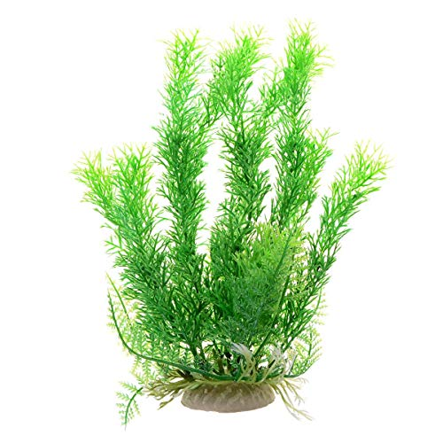 Saim Jardin Plastic Aquarium Tank Plant Grass Decoration by Aquarium Plastic Plant Decor