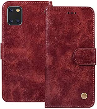 Ueokeird Galaxy Note 10 Lite Wallet Case Samsung A81 Phone Case PU Leather Shockproof Cover Case with Credit Card Slot Holder Flip Stand Magnetic Closure for Samsung Galaxy Note 10 Lite  Wine red