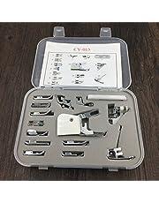 DORLIONA 15Pcs Domestic Sewing Machine Foot Presser Feet Kit Sewing Machine Accessories Tools Single Item.