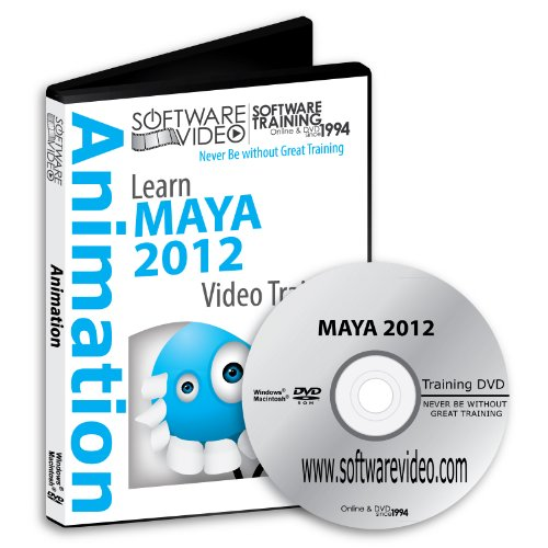 Software Video Learn Maya 2012 Training DVD Sale 60% Off training video tutorials DVD - Over 10 Hours of Video Training
