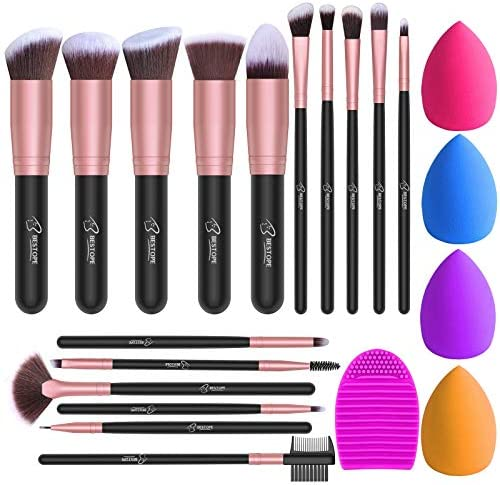 BESTOPE Makeup Brushes 16PCs Makeup Brushes Set with 4PCs Makeup Sponge and 1 Brush Cleaner product image