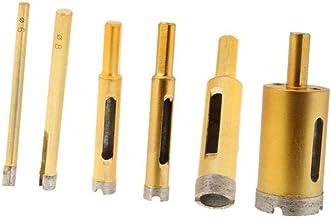 Backbayia - Juego de 6 brocas para perforación y sierra para bricolaje para cerámica y vidrio