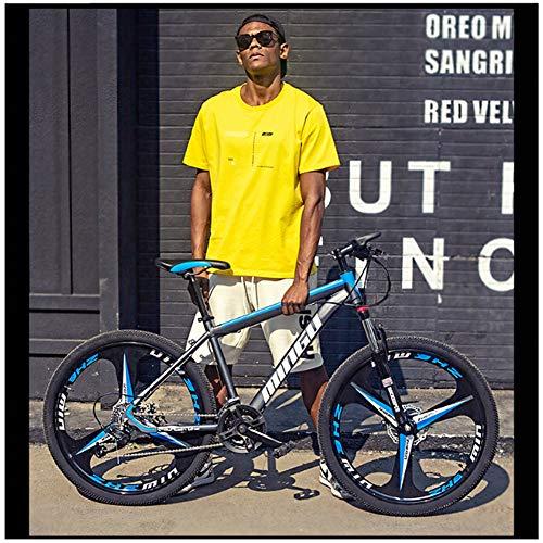 YXYLD Mountainbike, 26 Zoll Carbon Steel Mountainbike, 21/24/27/30-Gang Rennrad Fahrrad Gabelaufhängung 24 Zoll MTB Erwachsenenfahrrad,Studentenfahrrad,Fahrrad,Cityräder