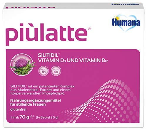 Humana Piùlatte, für stillende Frauen mit Vitamin D3/Vitamin B12 und Silitidil, 70g, 1 Stück