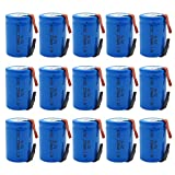 GLESOURCE 4/5 SC NiCd Sub C 1.2V 2200mAh Rechargeable Battery with Tab for Power Tool(15 Pcs)