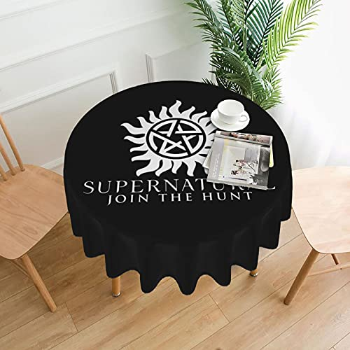 Supernatural Round Table Cloth is Suitable for Family Kitchen Restaurant Decoration Indoor Outdoor Kitchen Party Picnicone Size