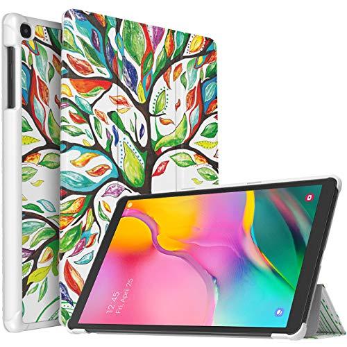 TiMOVO Funda Compatible con Samsung Galaxy Tab A 10.1 2019 (T510/T515), Funda Ultra Fina y Liviana Cubierta Cover (No Adapto para Tab A 10.1 2016 (T580/T585))- Árbol de Suerte