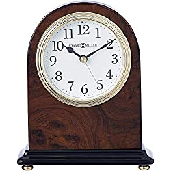 Howard Miller Bedford Table Clock 645-576 – Walnut Finish with Quartz Movement