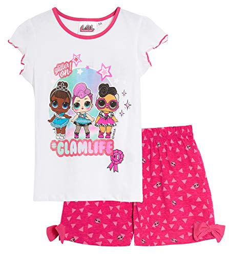 LOL Surprise Dolls - Pijama corto para niña Blanco blanco 8 años