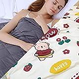 Weighted Blanket con Funda,11.4kg Manta de Peso para Peso Corporal 108-127kg para Adultos Ansiedad,203x221cm,Blanco