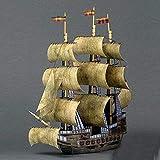 ELVVT Antiguo Pirata Velero Modelo a Mano de Alta dificultad del Arte de DIY del Modelo del Papel del Juguete de decoración Regalos de cumpleaños for Adulto del niño