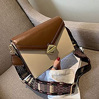 Adebie - 2019 New Belt Female Small Square Shoulder Bags Messenger Bags PU Women Brand Designer Handbags Vintage Hasp Flap Crossbody Bags Dark Brown []