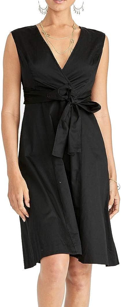 RACHEL Rachel Roy Womens Pearl Sleeveless Tie-Front Casual Dress