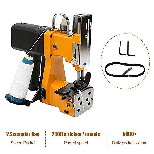 HUKOER Máquina de coser portátil Máquina de coser más cercana Bolsa de embalaje eléctrica Sellado de costura para bolsa de plástico de papel de arroz saco de piel de serpiente (220V)