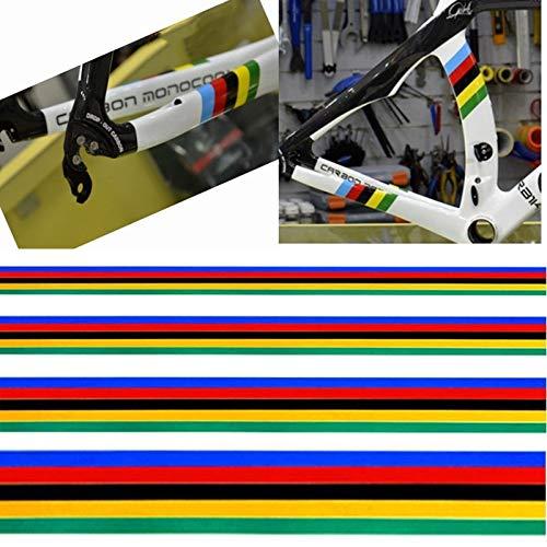 JINAN 1Set Reflective Cycling Feld-Aufkleber Fahrrad-Aufkleber Regenbogen-Farben-Dekoration-Aufkleber DIY (Color : 10X30cm)