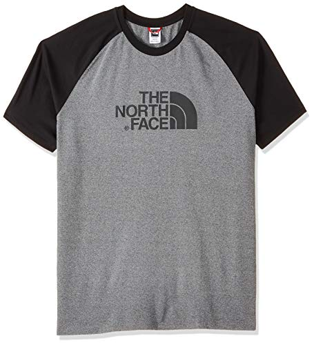 The North Face SS Raglan Easy tee Camiseta, Hombre, Gris (Me