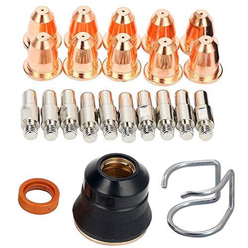 RX WELD 23 piezas cortador de plasma linterna S25 S45 Kit de accesorios PR0010 Electrodos PD0116-08 boquillas separador guía tapa de retención difusor de gas CV0010 consumibles para linterna S45