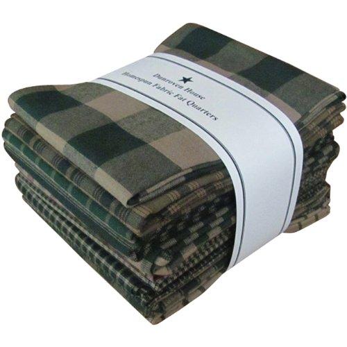 Dunroven House Acciaio Homespun Craft Cotton Company-Fat Quarter, Colore: Verde (Confezione da 12)
