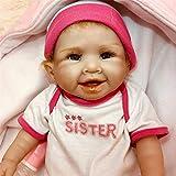 20 Pulgadas Reborn Doll 51Cm Suave Cuerpo Completo de Silicona Muñecas de crianza realistas Muñecas Ligeras Lavables para niños pequeños Juguetes para niños
