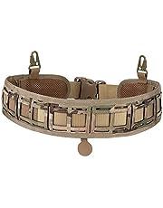 Huenco Cinturón de Patrulla Acolchado Cinturón de Batalla de Molle táctico Cintura de Caza Ajustable Cinturones de Patrulla Engranaje de Combate