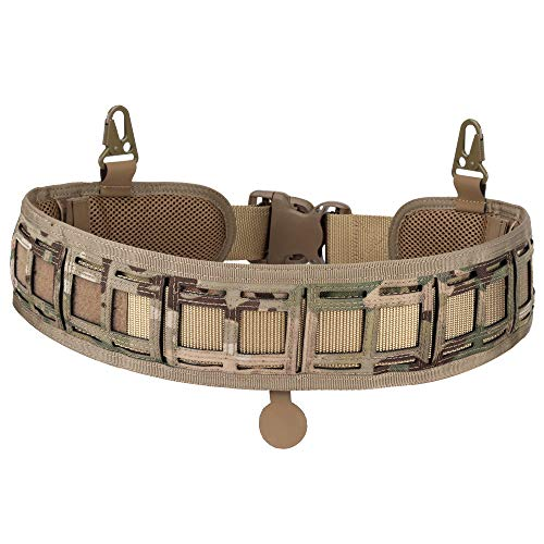 DETECH Táctica acolchada Patrulla Molle Cinturón de Batalla Ajustable Caza Cintura Patrulla Cinturones 1000D Nylon Alta Densidad