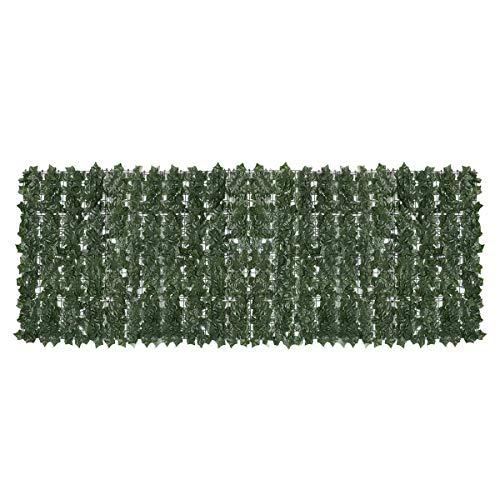 PN-Braes Garten Streikposten Zaun Panels Künstlicher Efeu-Rolle Privacy Screen Hedge Wand Gartenzaun Balkon Dekorationen Grün Für Pflanzenränder und Blumenbeete (Color : Green2)