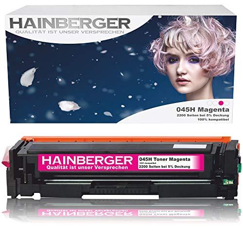 Hainberger Toner Magenta Kompatibel zu Canon 045 045H CRG-045H CRG-045 045HBK für Canon i-sensys MF635cx MF633cdw MF634cdw MF631cn MF632Cdw MF636Cdwt MF631 MF635 MF634 LBP613cdw LBP612cdw LBP611cn