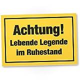 DankeDir! Achtung Lebende Legende im Ruhestand - Kunststoff Schild Abschiedskarte Ruhestand,...