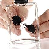 Adkwse Ferrofluid in der Flasche magnetische zylindrische Glasflasche Display Spielzeug (Schwarz)