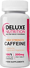 Deluxe Nutrition 200mg Caffeine Tablets – Pack of 100 – Suitable for Vegetarians and Vegans Estimated Price : £ 7,49