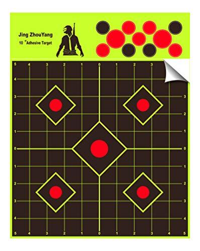 JingZhouYang  Reusable Splash Shooting Target 10x10inch selfAdhesive Fluorescent Yellow Aiming Target for Indoor and Outdoor Shooting ranges
