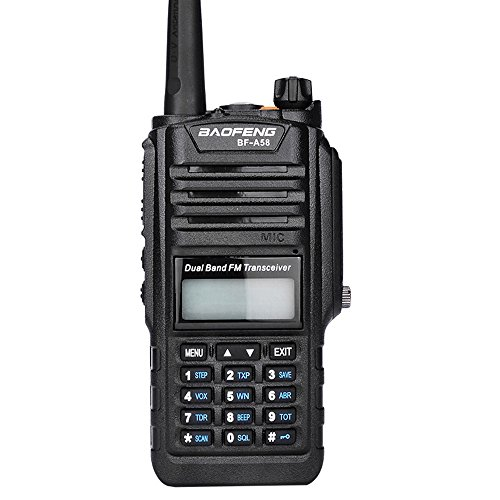 Mengshen BF-A58 Two Way Radio Walkie Talkie Impermeable Resistante a Polvo VHF UHF 136-174/400-520MHZ Dual Band Amateur Radio BF-A58 Ou
