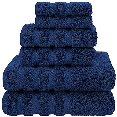 American Soft Linen Towel Set, 2 Bath Towels 2 Hand Towels 2...