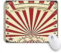 NINEHASA 可愛いマウスパッド Premiere Sunbeam Show Circus Vintage Festive Poster TexturesPartyのボーダーペーパー ノンスリップゴムバッキングコンピューターマウスパッドノートブックマウスマット