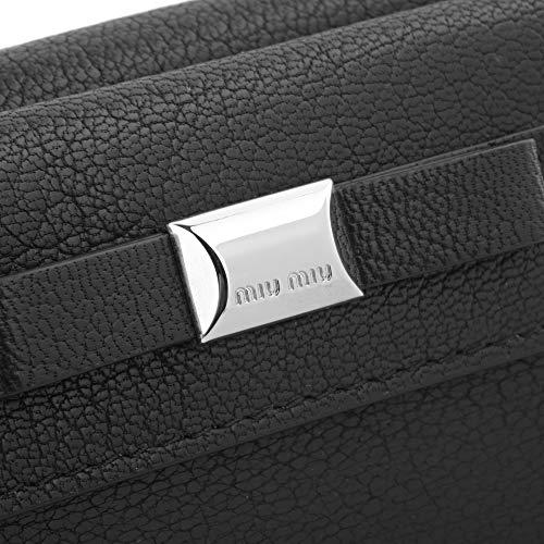 ミュウミュウ(MIUMIU)3つ折り財布5MH0202CARF0632マドラスフィオッコブラック黒[並行輸入品]